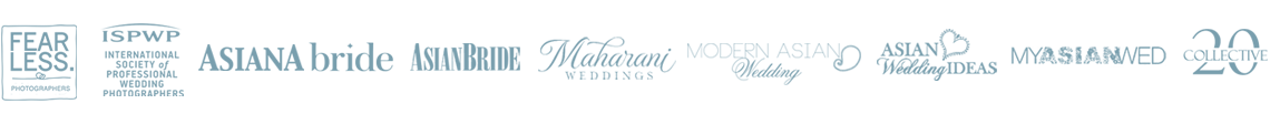 As featured in Fearless, ISPWP, Asiana, AsianBride, Maharani Weddings, Modern Asian Wedding, Asian Wedding Ideas, MyAsianWed, 20 Collective