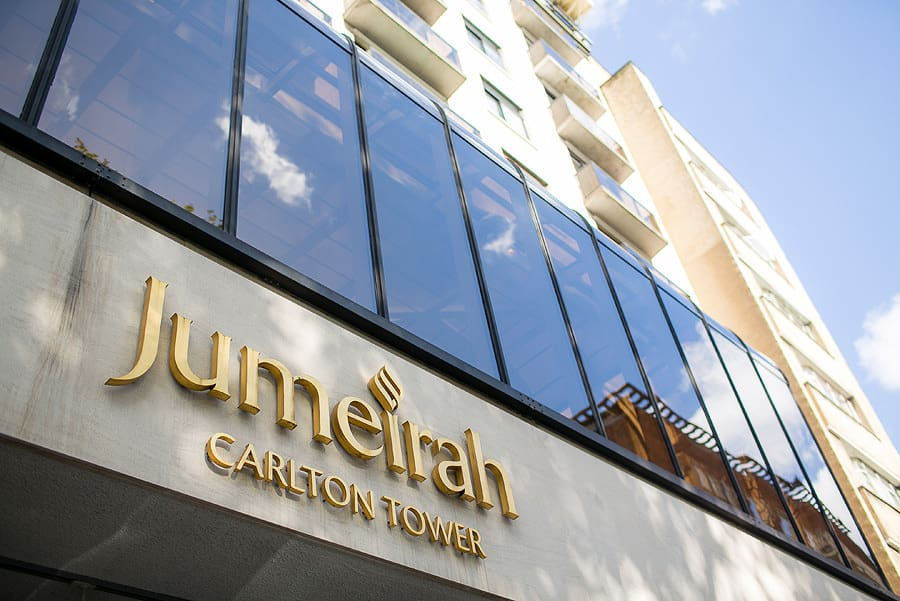 jumeirah carlton towers, exterior, asian wedding photography