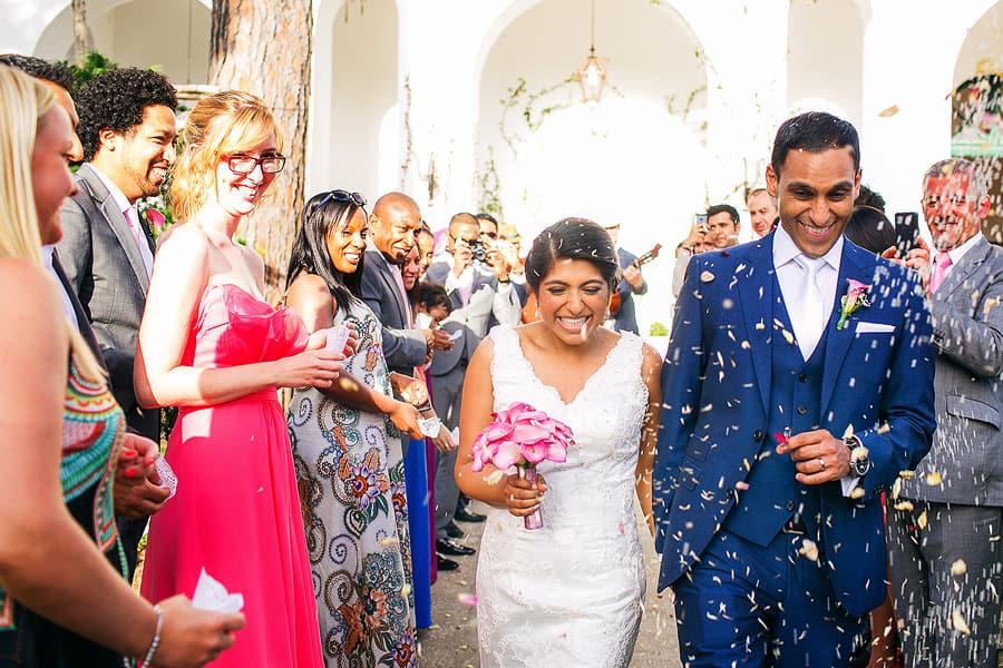 wedding ceremony at villa eva italy