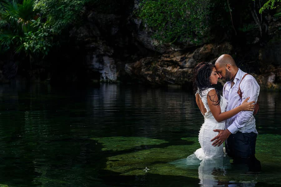 cenotes south asian wedding photography