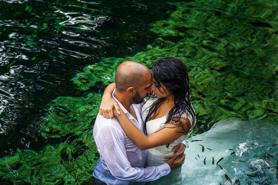 cenotes south asian wedding photography