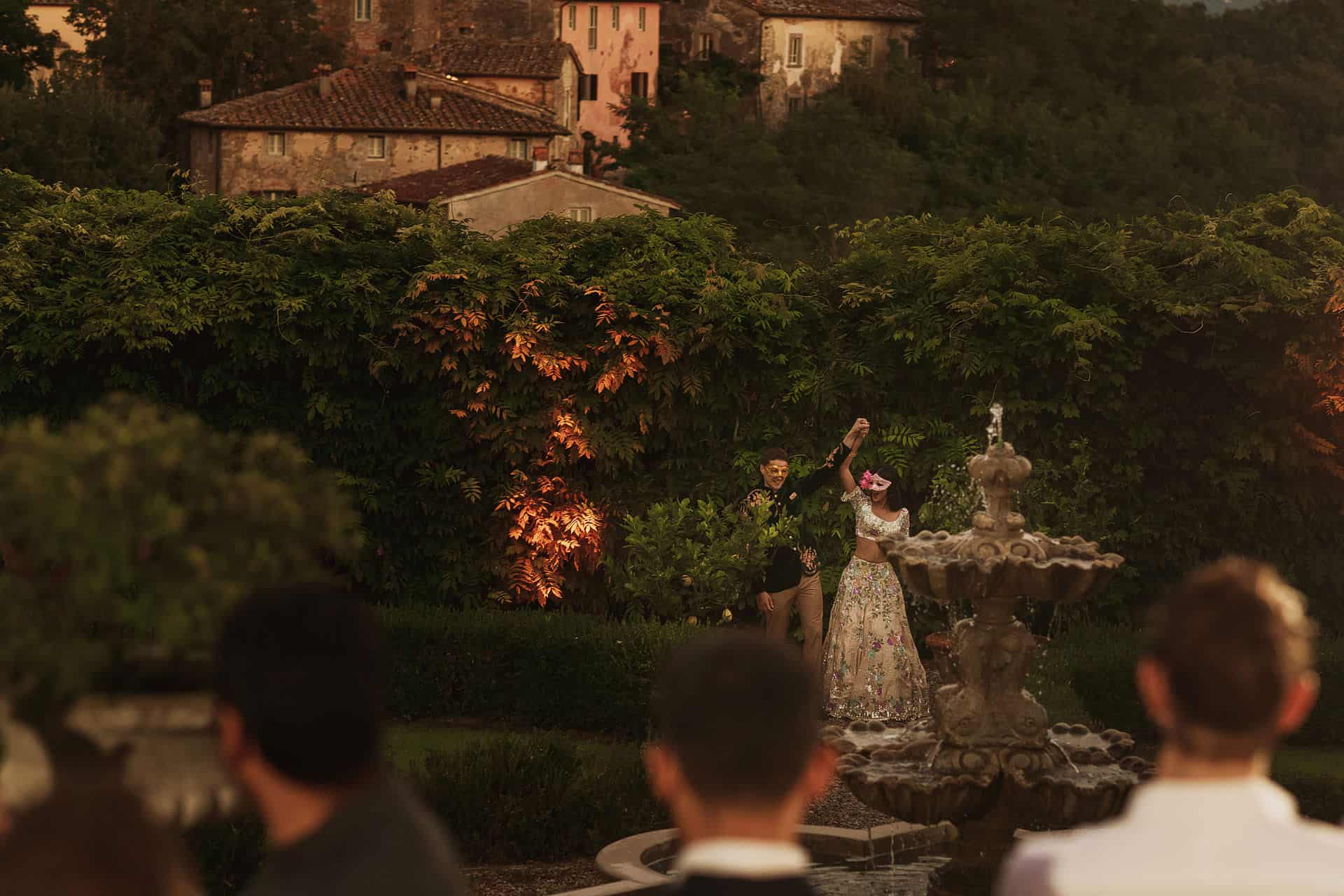 il borro wedding reception tuscany